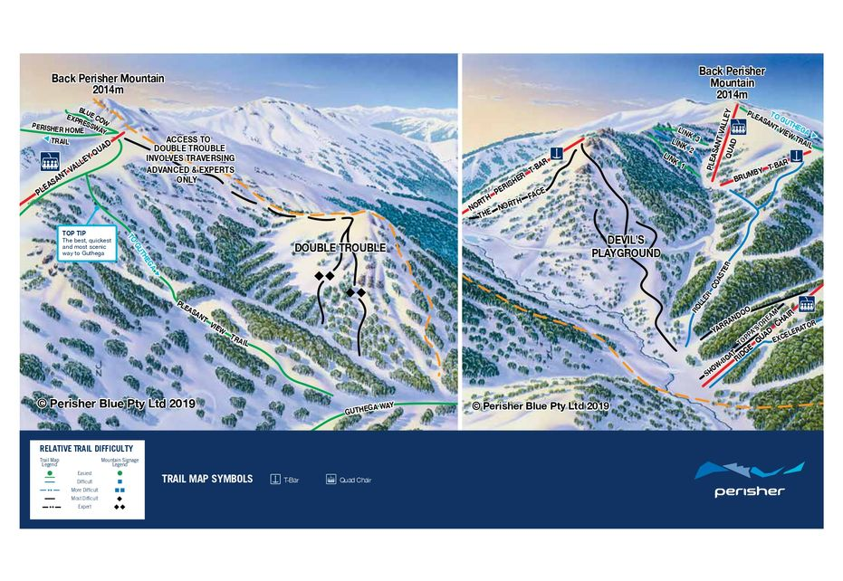 Devils Playground Ski Map