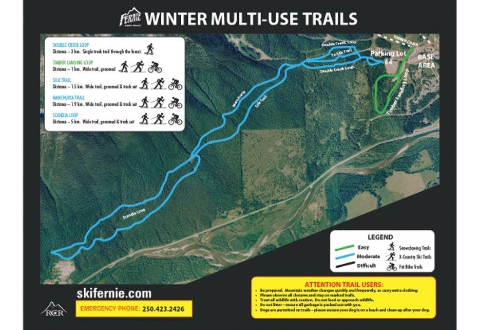 Fernie Bike and Hike Winter Trails