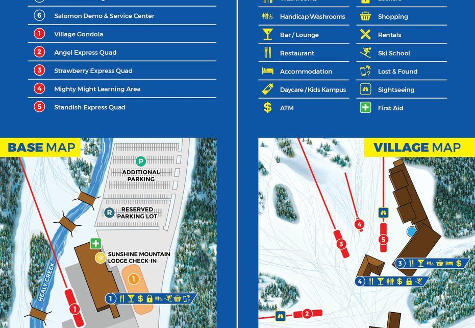 Banff Ski Sunshine Base Map