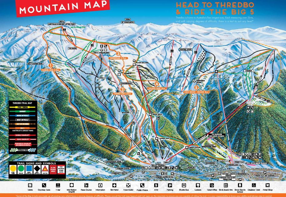 Thredbo Ski Map