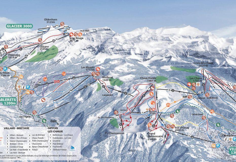 Villars Ski Map