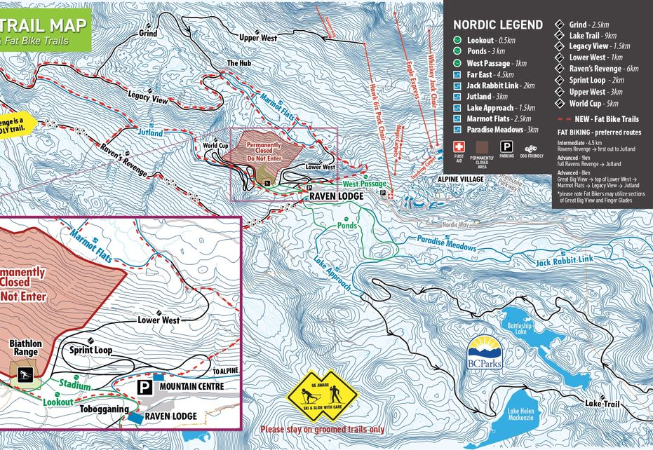 Washington Alpine Resort Nordic Ski Trail Map