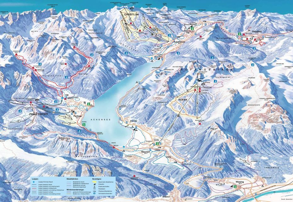 Achensee - Pertisau Ski Map