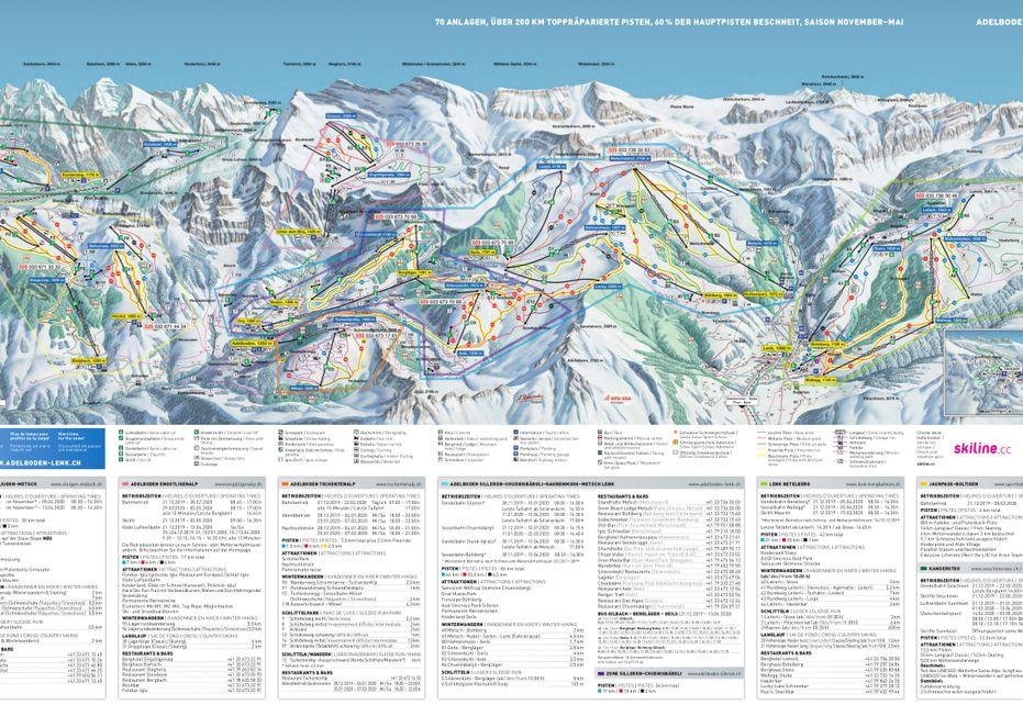 Adelboden-Lenk Ski Map