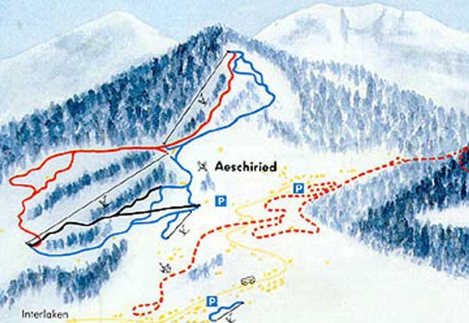 Aeschi Ski Map