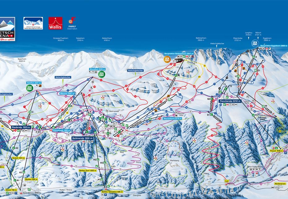 Fiesch Ski Map