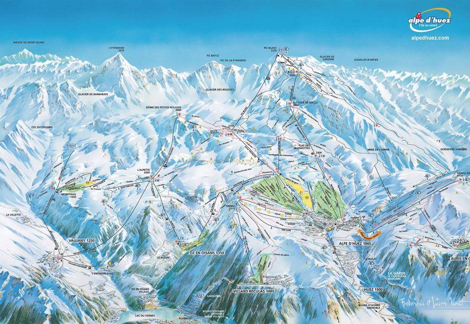 Alpe d'Huez Ski Map