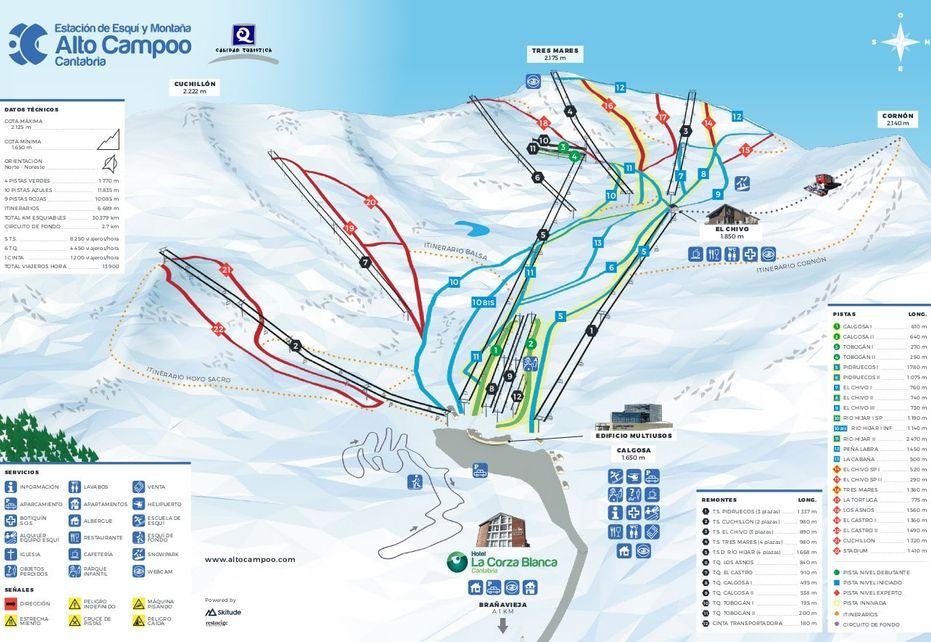 Alto Campoo Ski Map