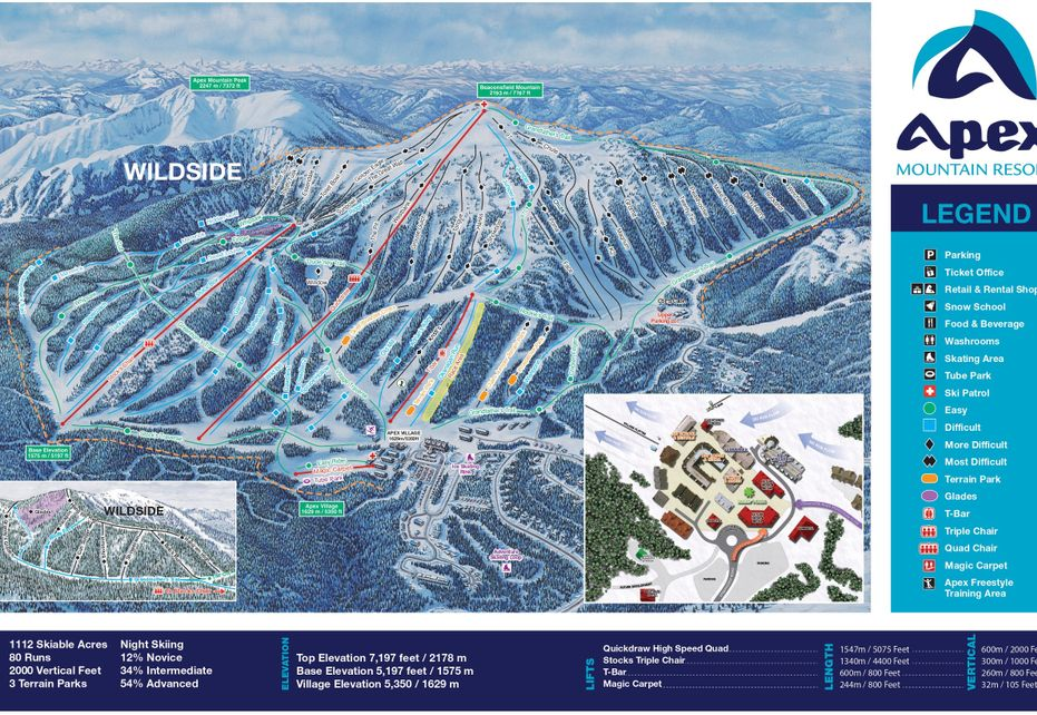 Apex Ski Trail Map
