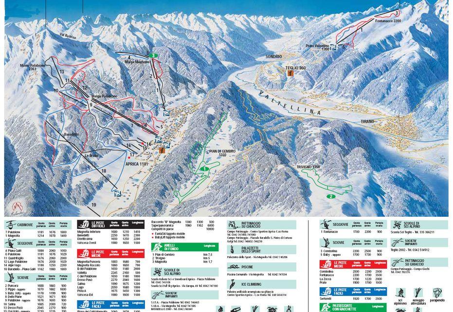 Aprica Ski Map