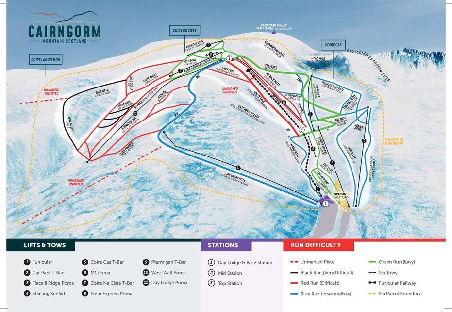 Aviemore Ski Map