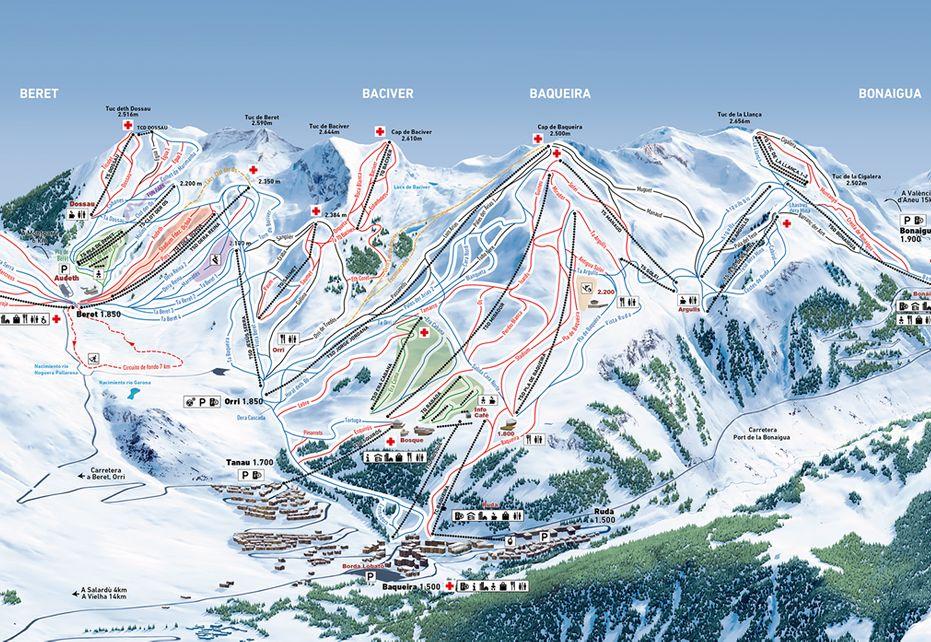 Baqueira Ski Map
