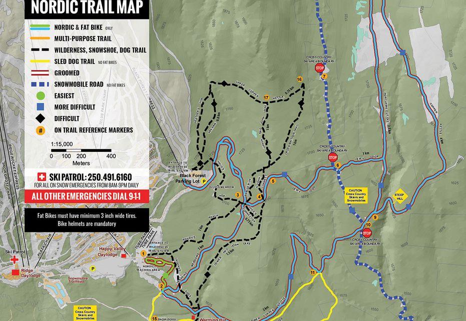Big White Nordic Trail Map