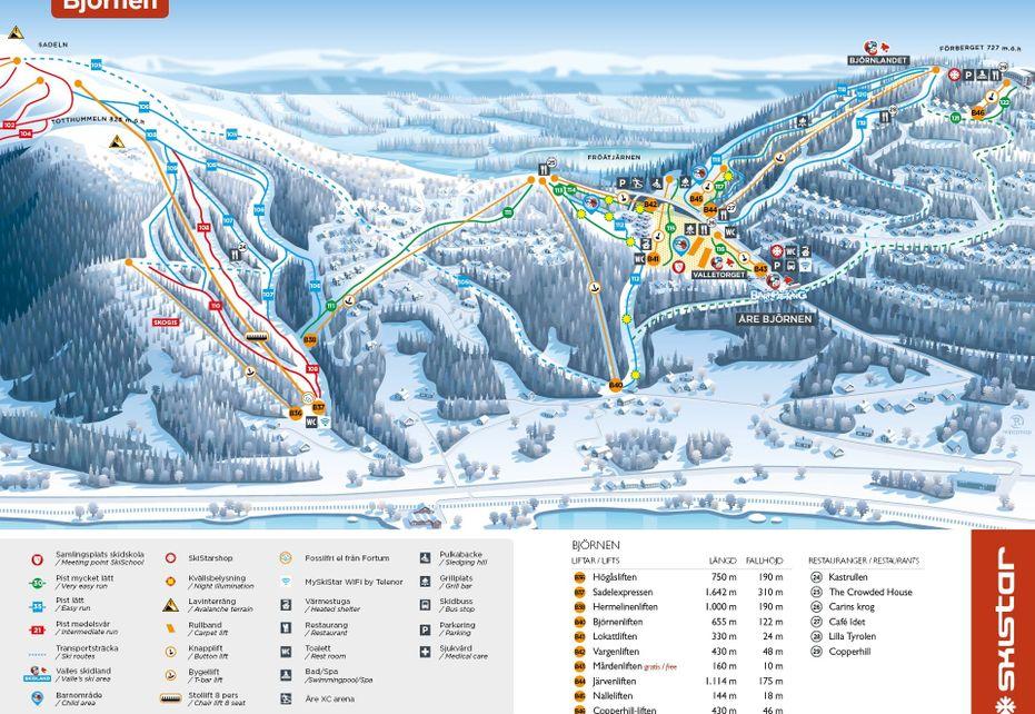 Björnen Ski Map