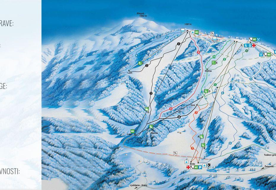 Cerkno Ski Map