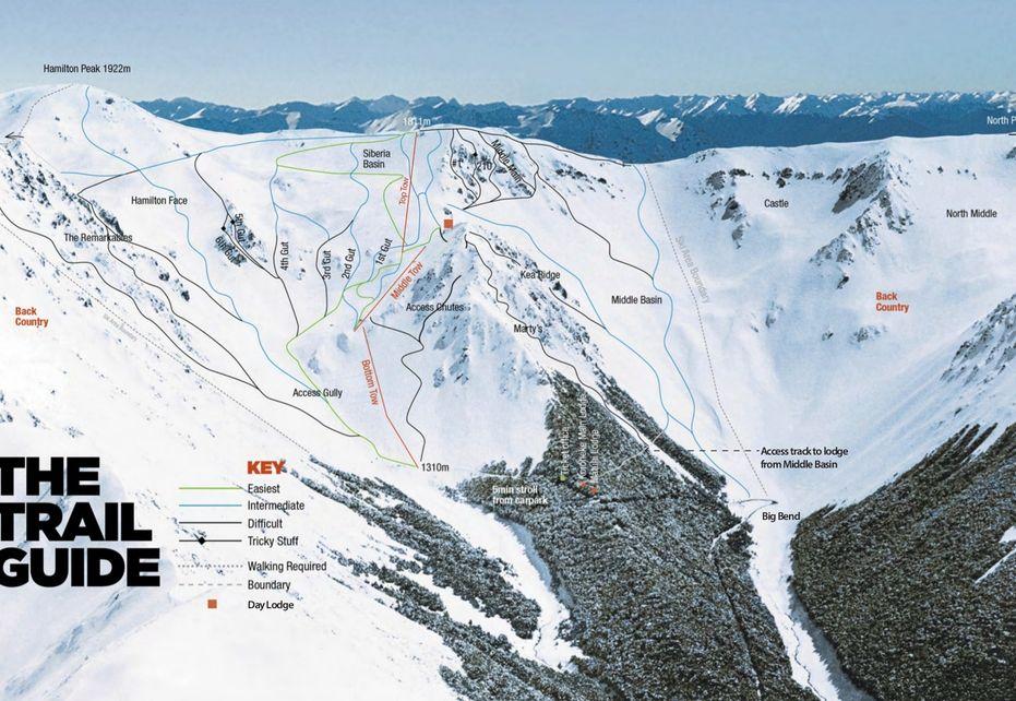 Craigieburn ski map