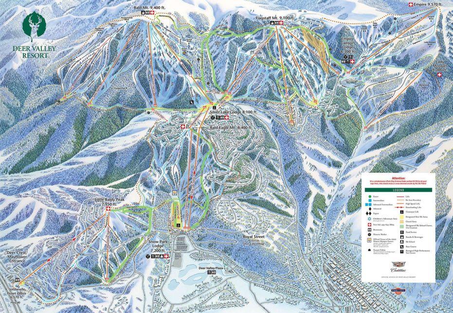 Deer Valley Ski Trail map