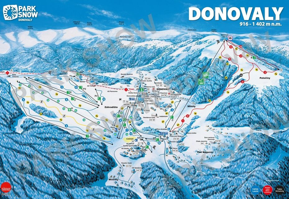 Donovaly Ski Map
