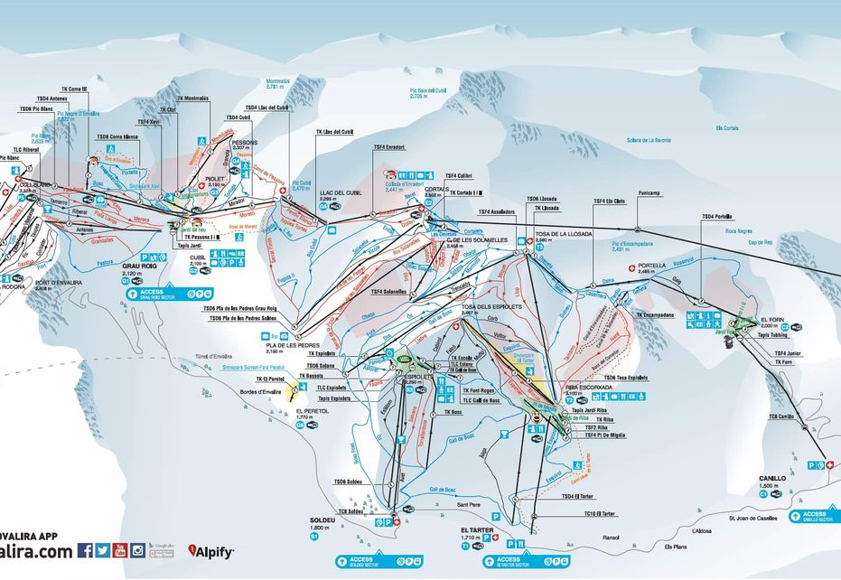 Canillo Ski Map