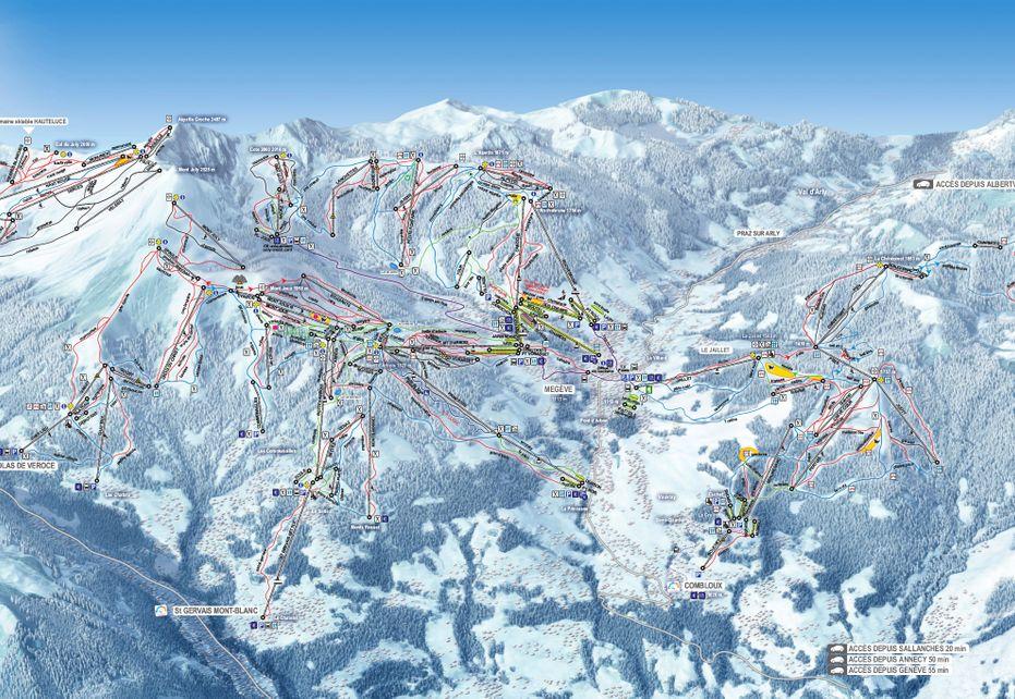 Domaine Evasion Ski Map