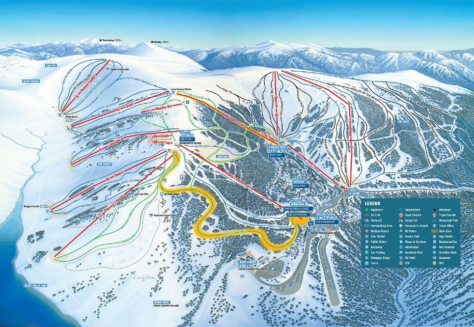 Falls Creek Ski Map