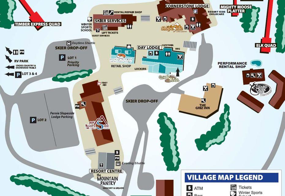 Fernie Resort Map