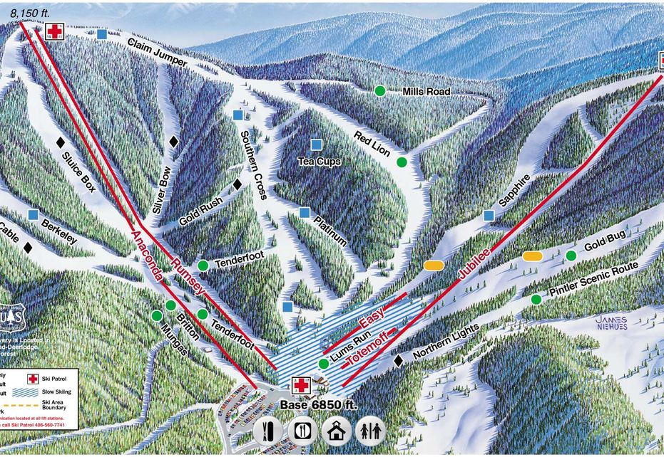 Discovery Ski Trail map - Fronside