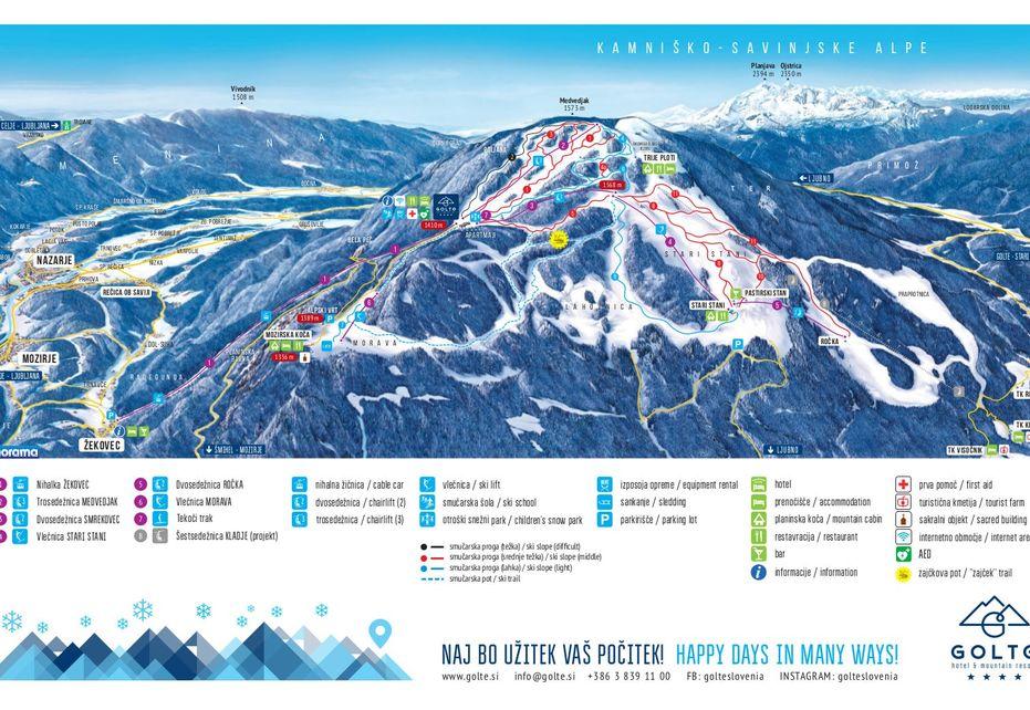 Golte Ski Map