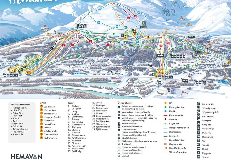 Hemavan Ski Map