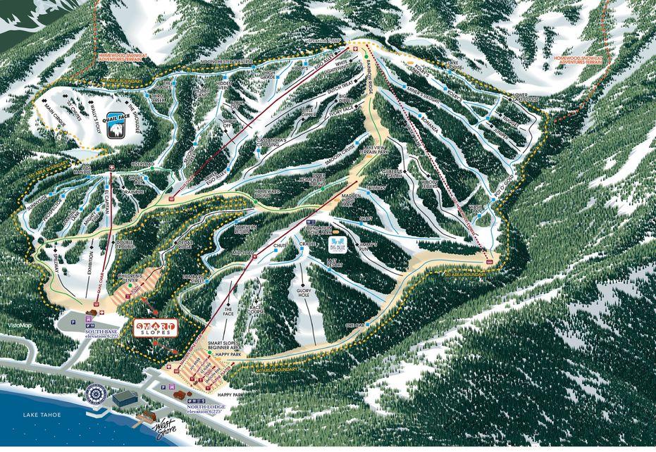 Homewood Ski Trail Map