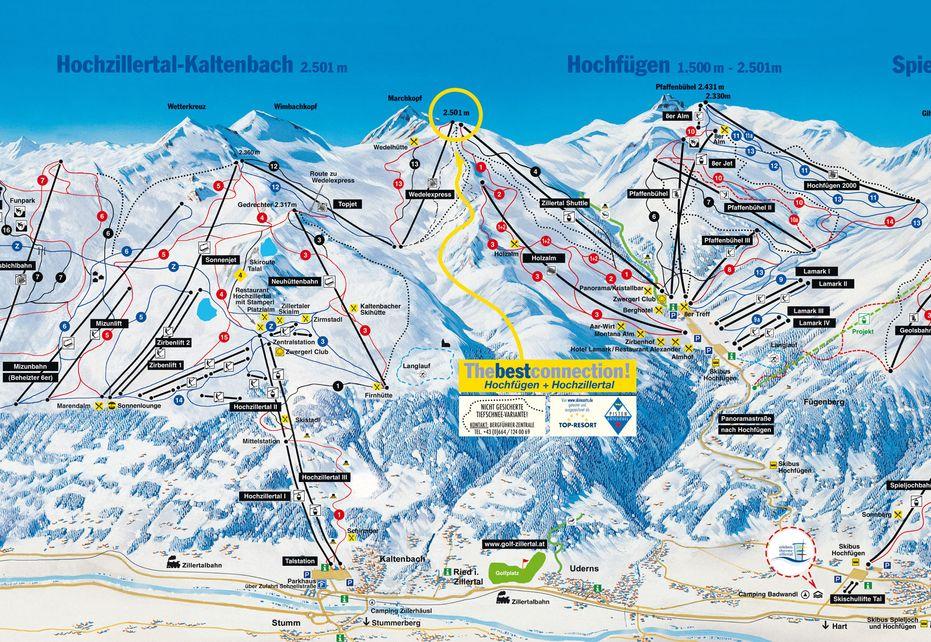 Kaltenbach Ski Map