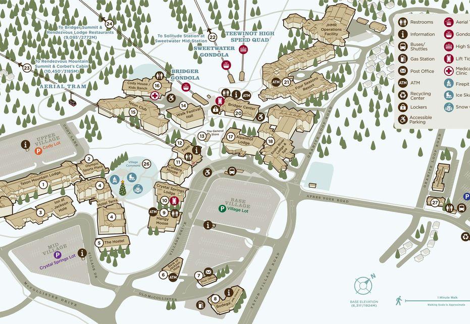 Jackson Hole Resort Map