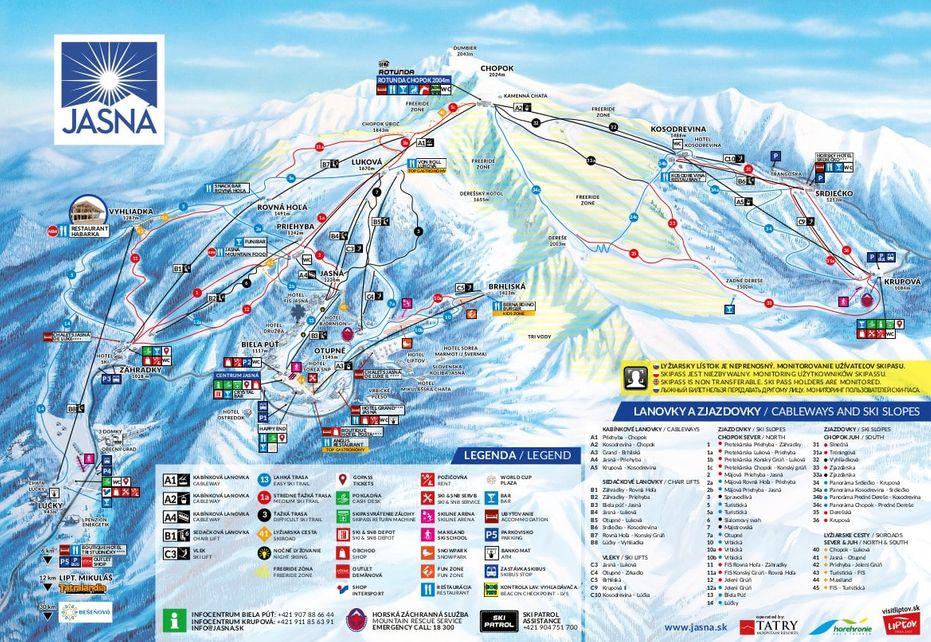 Jasna Ski Map