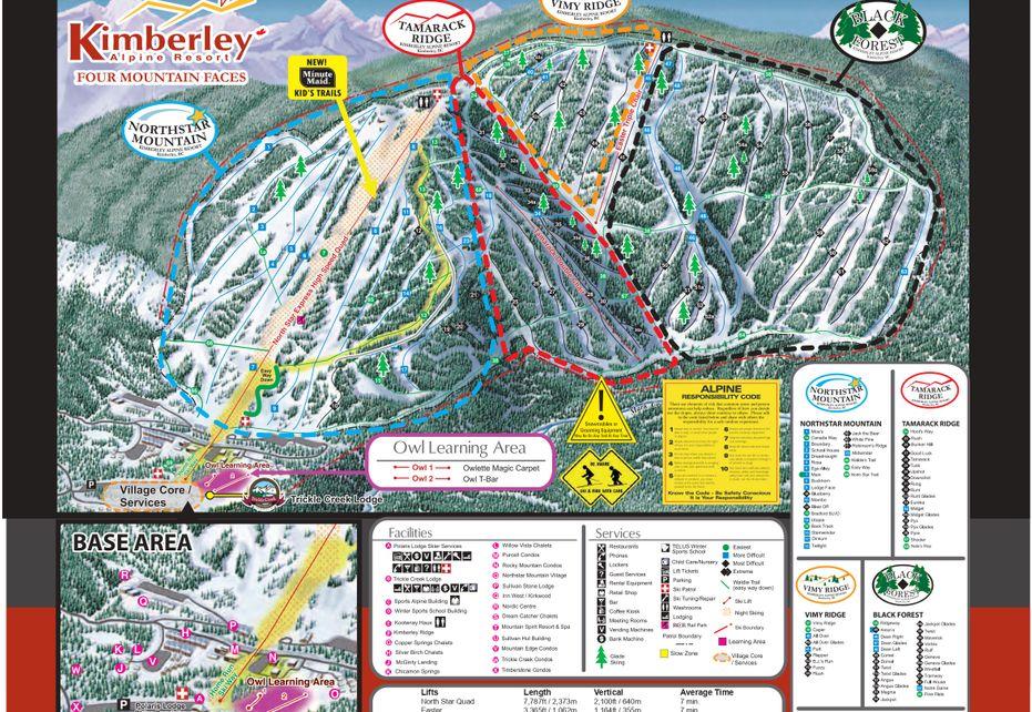 Kimberley Ski Trail Map