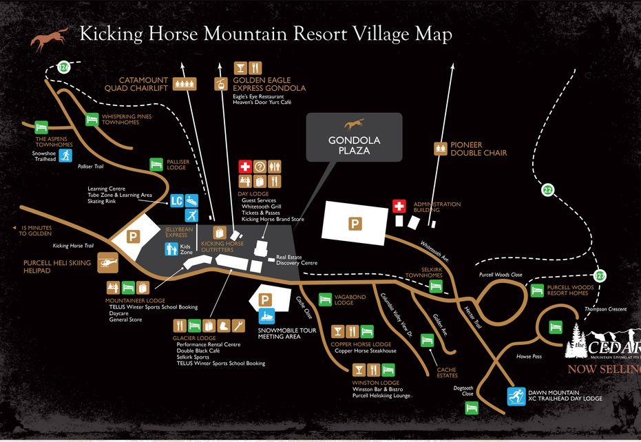 Kicking Horse Village Map