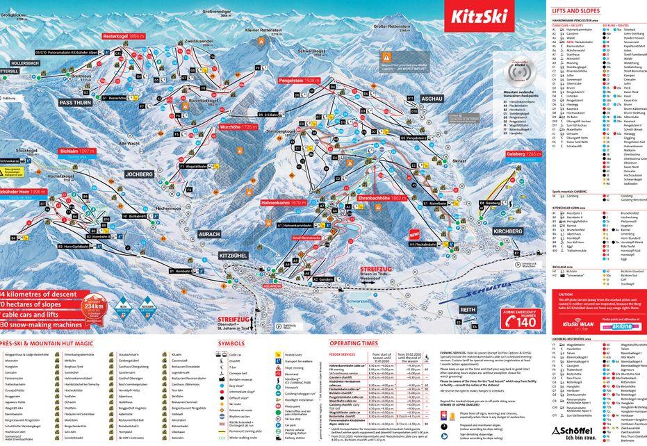 Kirchberg Ski Map