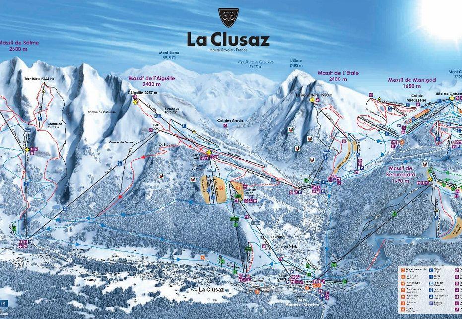 La Clusaz Ski Map