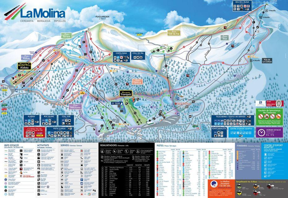 La Molina Ski Map