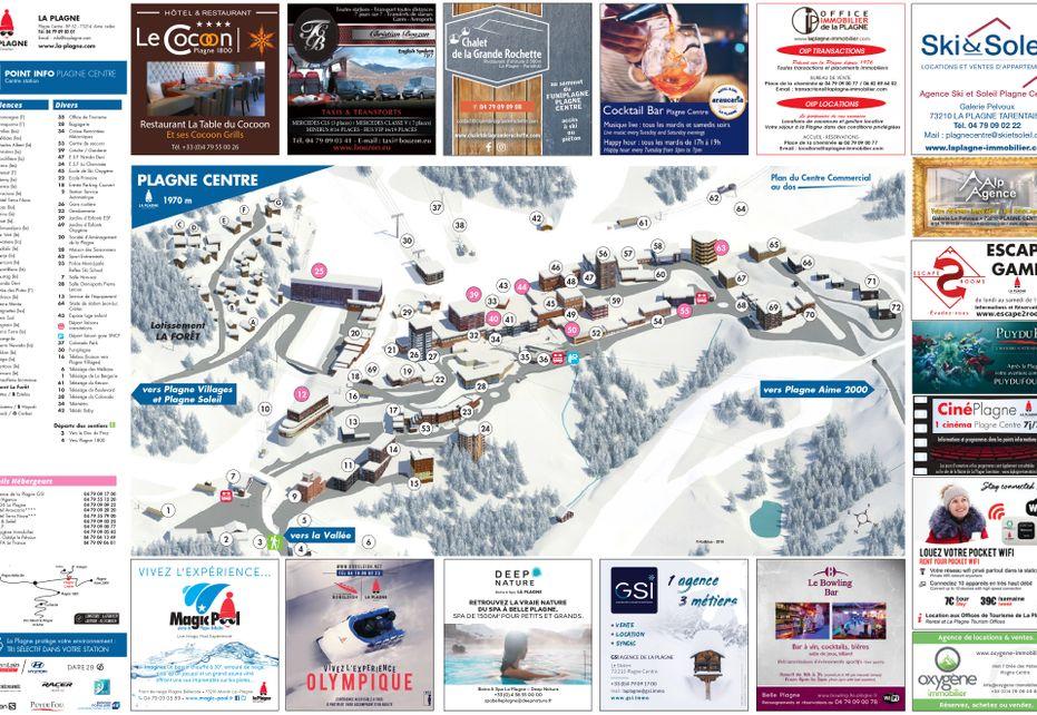 La Plagne Centre Ski Resort map