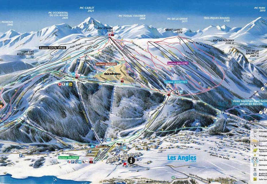 Les Angles Ski Map