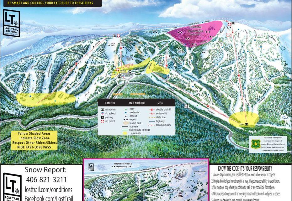 Lost Trail Ski Trail Map