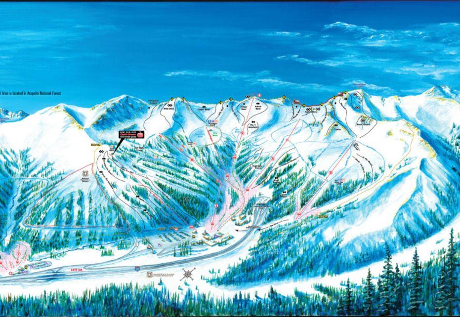 Loveland Ski Trail Map