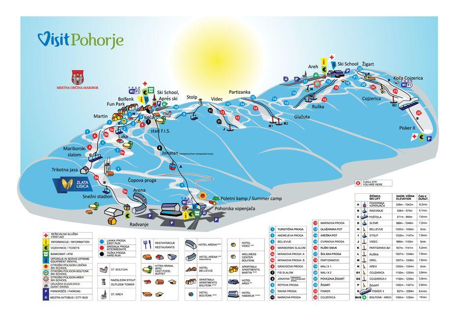 Maribor Pohorje Ski Map