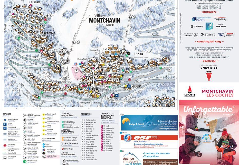 Montchavin Ski Resort map