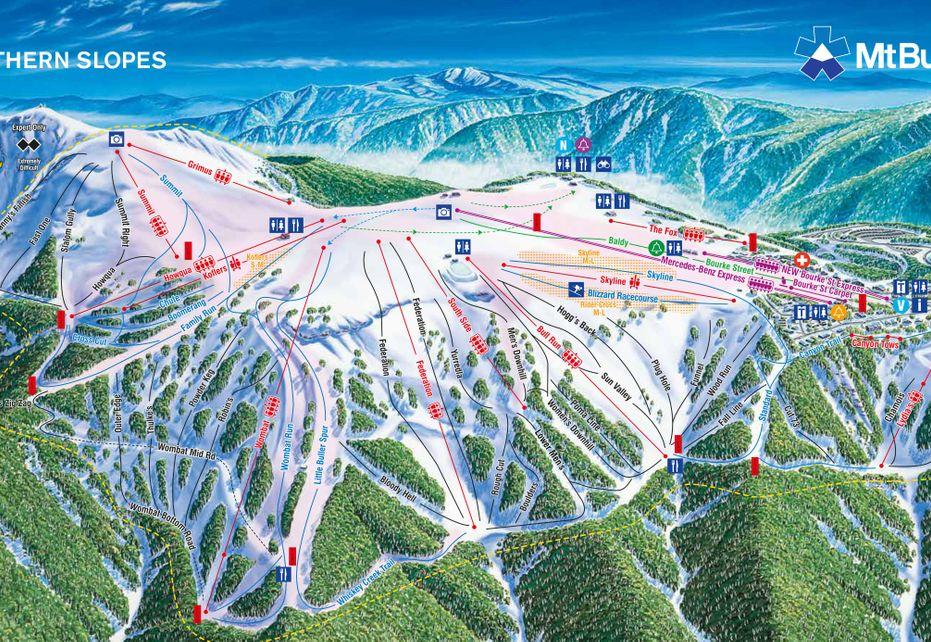 Mount Buller Ski Map