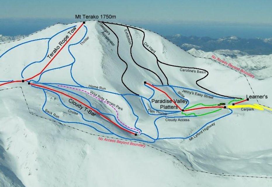 Mt Lyford ski map