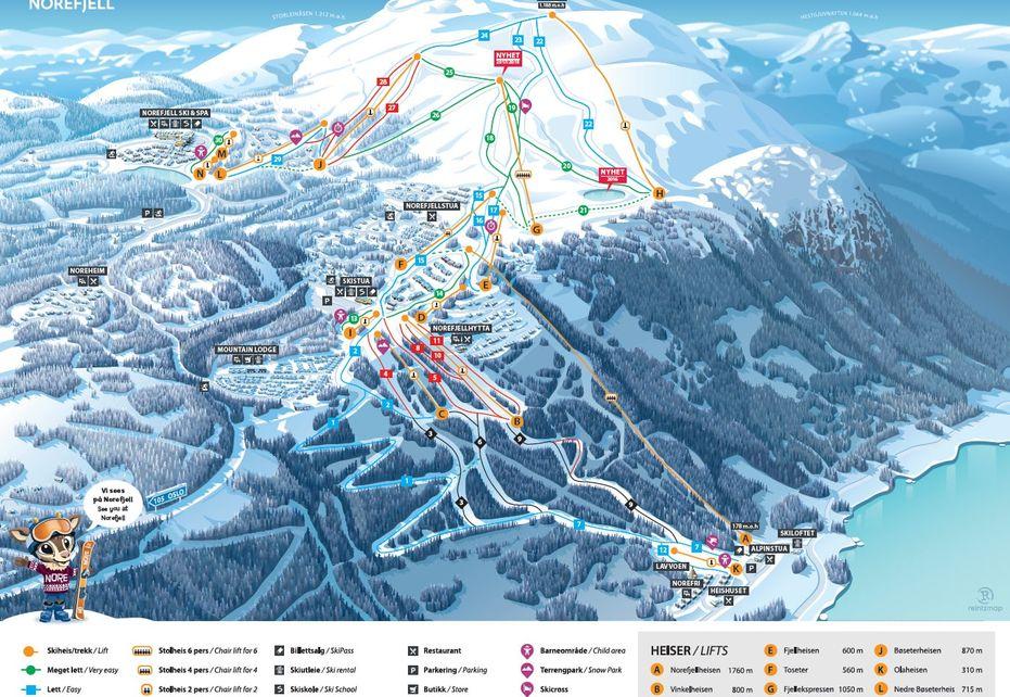 Norefjell Ski Map