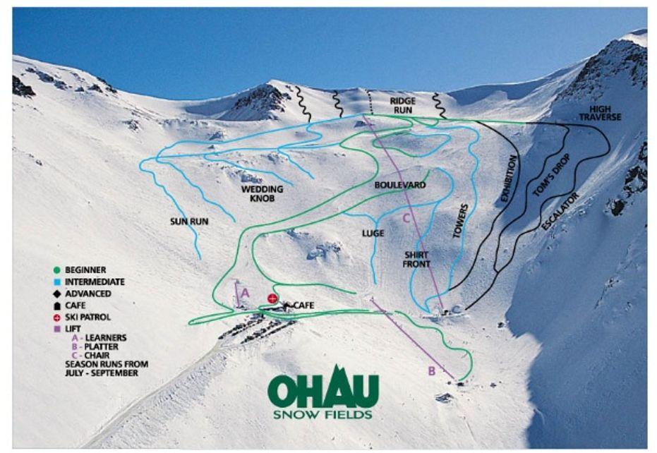 Ohau ski map