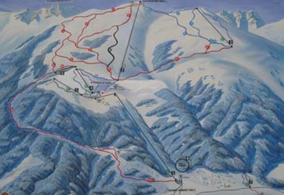 Aflenzer Bürgeralm Ski Map