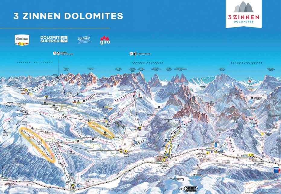 Toblach Dobbiaco Ski Map